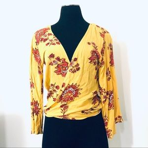 Tree of Life Easy Fit Size S M L Floral Wrap Top